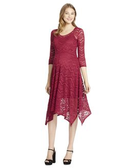Jessica Simpson A-line Maternity Dress, Beet Red