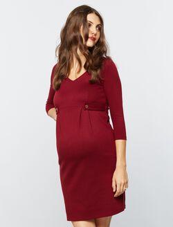Isabella Oliver Marlow Maternity Dress- Dark Claret, Dark Claret