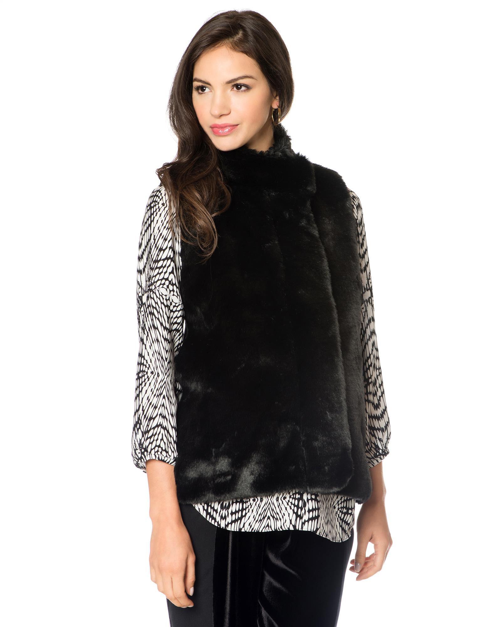 Rebecca Minkoff Faux Fur Rib Knit Maternity Vest
