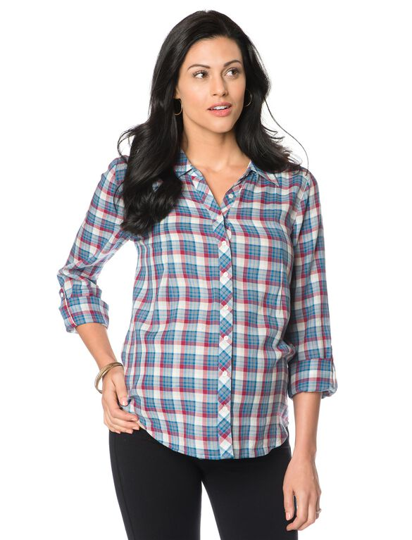 Button Front Maternity Blouse, Shiraz