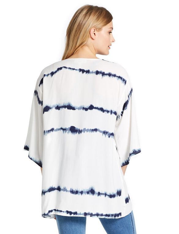 Jessica Simpson Pull Down Tie Dye Nursing Cover, Blue Tie Dye
