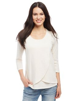 Lift Up Mock Layer Nursing Top, Oat