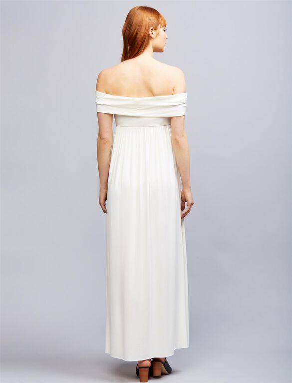 Rachel Pally Off The Shoulder Maternity Dress, White