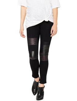 Paige Denim Secret Fit Belly Skinny Leg Maternity Jeans, Black