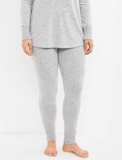 Cuffed Maternity Sleep Pant, Heather Grey
