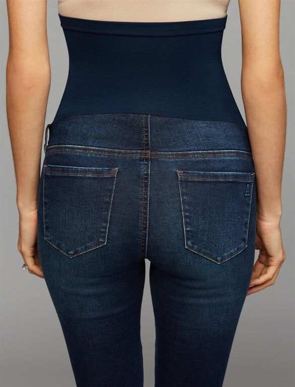 Articles Of Society Secret Fit Belly Skinny Leg Maternity Jeans, Dark Wash