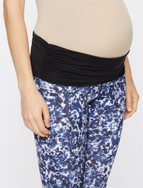 Beyond The Bump Adjustable Belly Maternity Crop Leggings, Cold Press Print