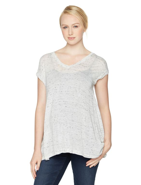 Splendid Maternity T Shirt, Heather White