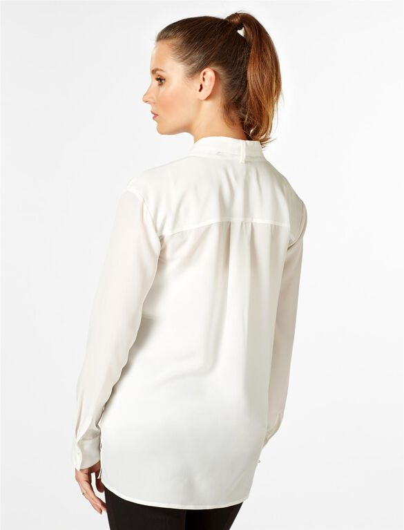 Rachel Zoe Tie Front Maternity Blouse, Ivory
