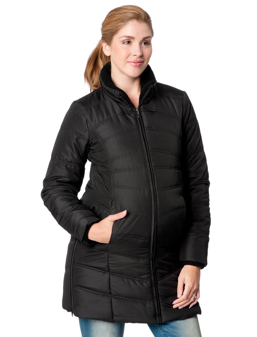 Quilted Puffer Maternity Coat at Motherhood Maternity in Victor, NY | Tuggl