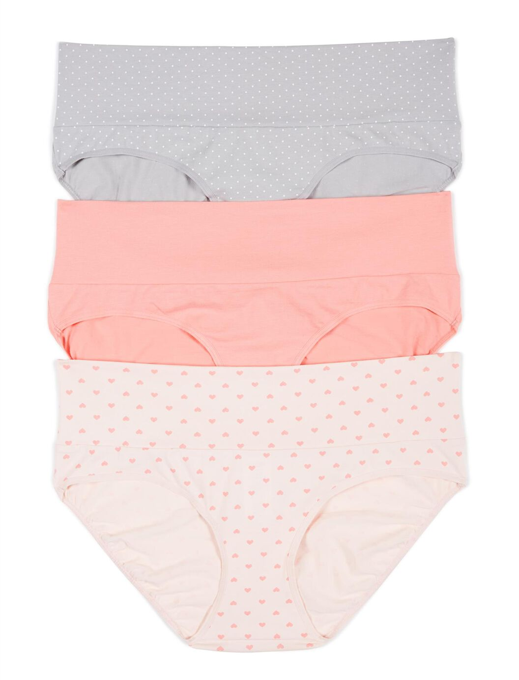 Maternity Fold Over Panties (3 Pack)- Dot/Heart at Motherhood Maternity in Victor, NY | Tuggl