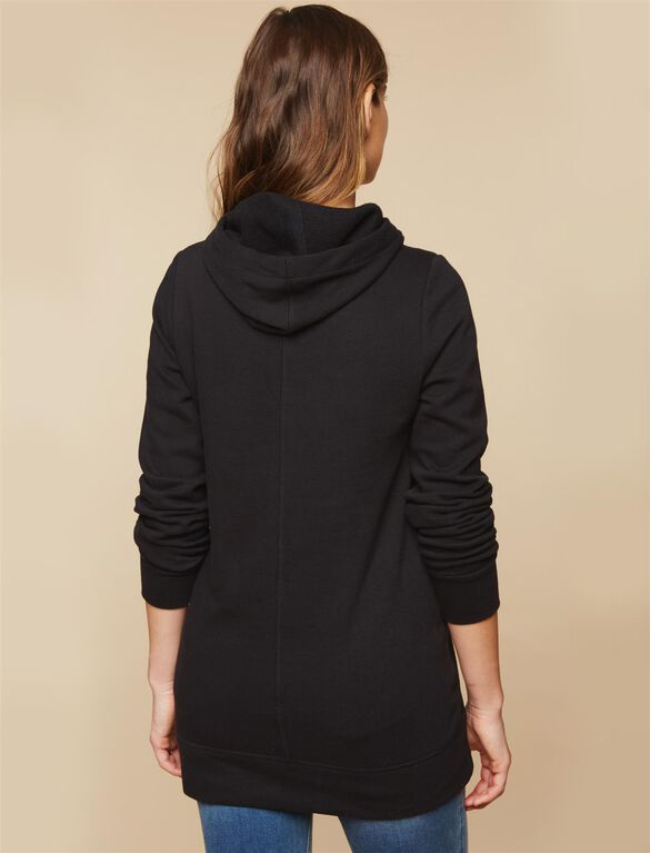 Kickin It Maternity Sweatshirt, Black