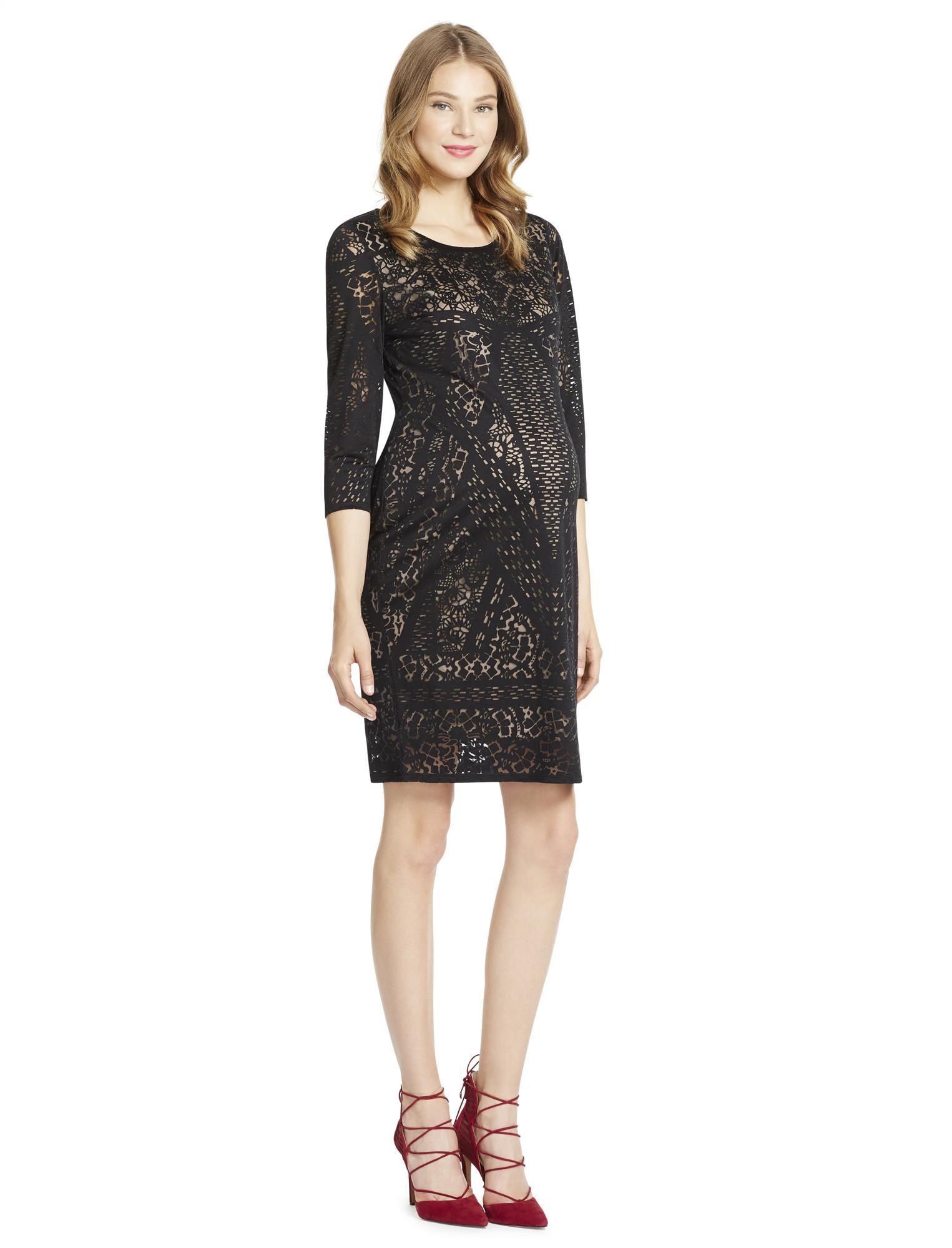 -Jessica Simpson Burnout Maternity Dress
