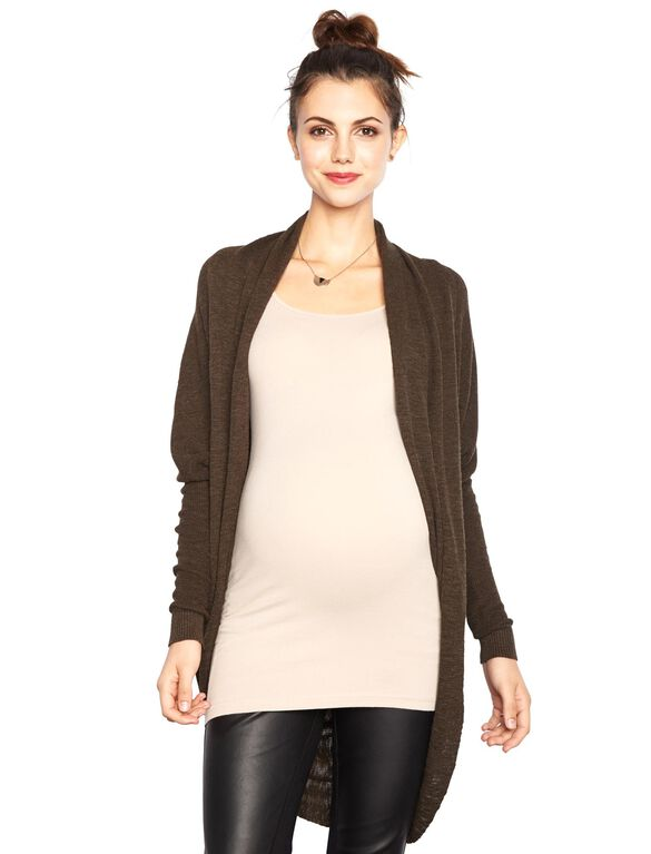 Line Maternity Sweater, Dark Khaki