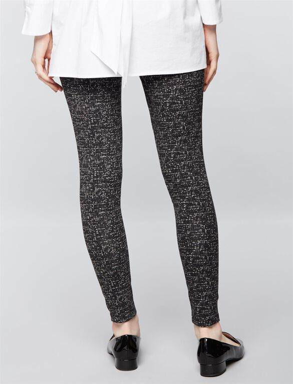Under Belly Ponte Maternity Pants, Speckle Print