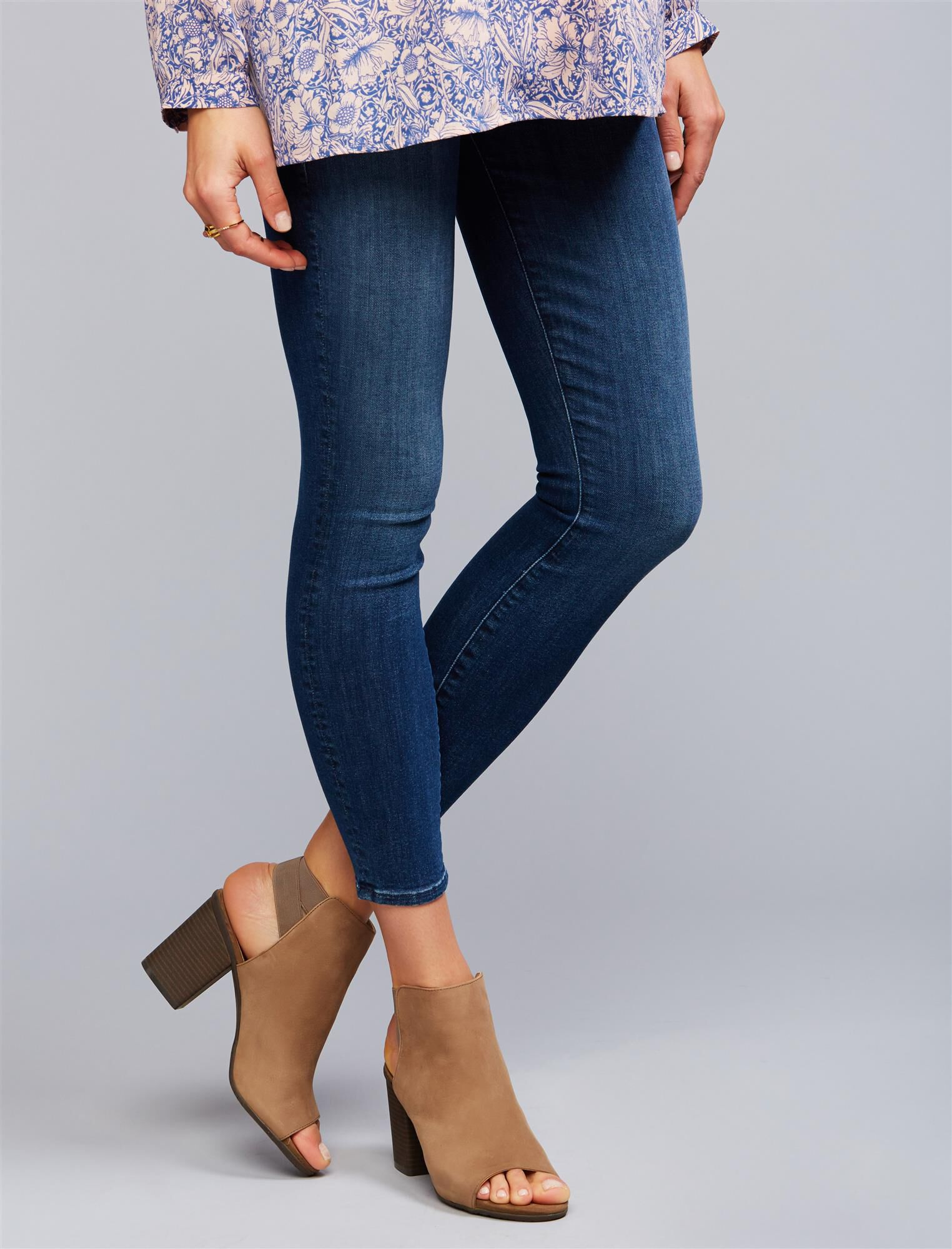 Mother Secret Fit Belly Looker Ankle Maternity Jeans- Here Kitty