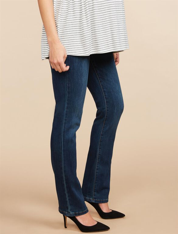 Secret Fit Belly Stretch Straight Leg Maternity Jeans, DARK WASH
