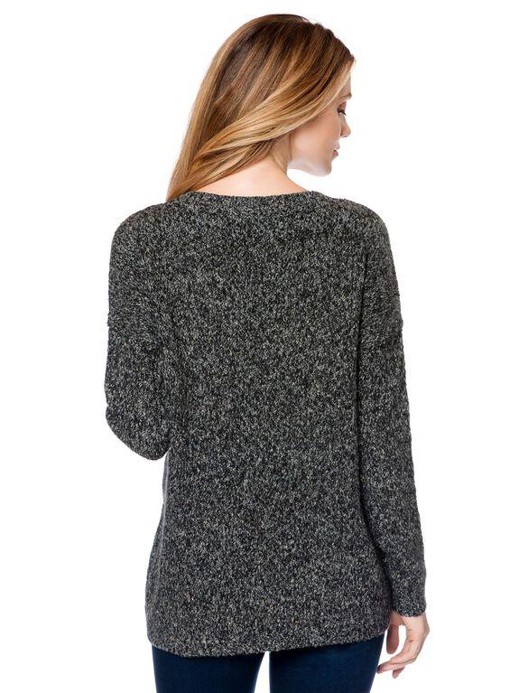 Maternity Sweater, Multi Print
