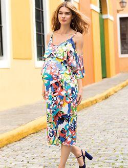 Rachel Pally Cold Shoulder Maternity Dress, Flores Print