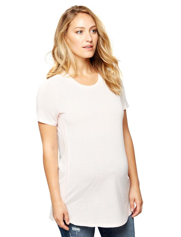 Soft Knit Maternity Top, Whisper Pink