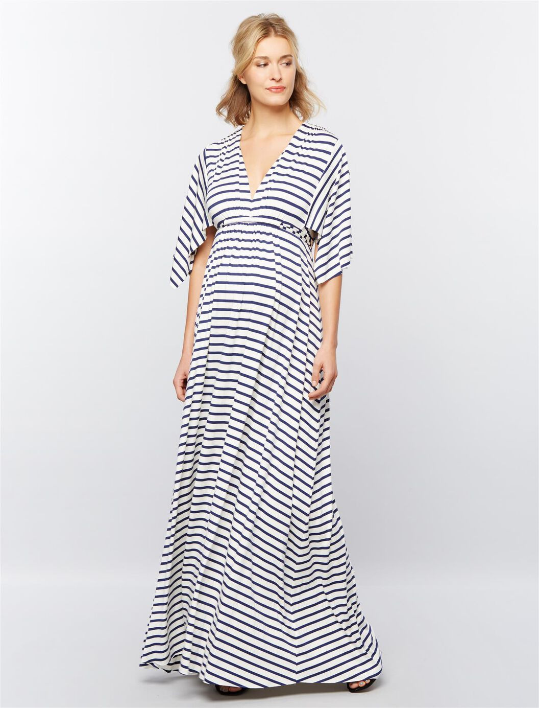 Rachel pally striped caftan maternity maxi dress destination rachel pally striped caftan maternity maxi dress stripe whiteblue ombrellifo Images