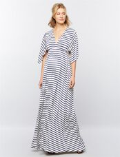 Rachel Pally Striped Caftan Maternity Maxi Dress, Stripe White/Blue