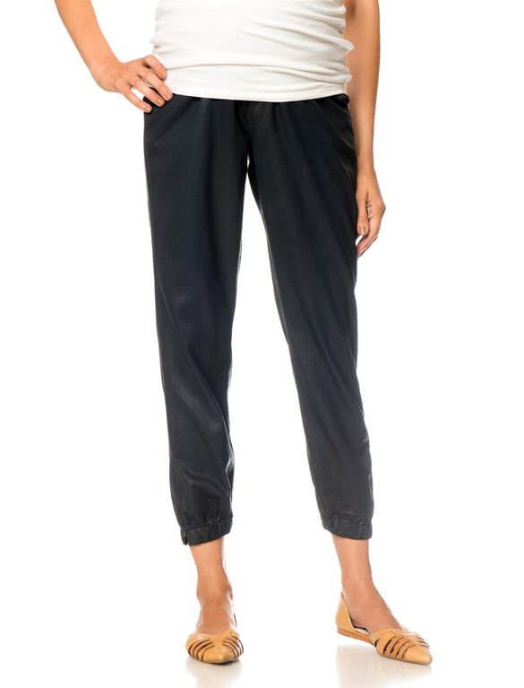 Ag Secret Fit Belly Twill Skinny Leg Maternity Jogger Pant, Navy
