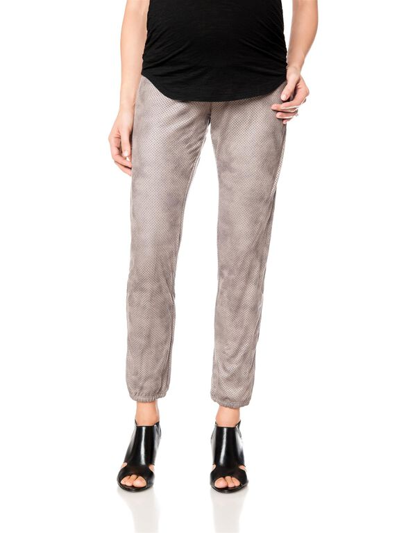 Secret Fit Belly Sateen Skinny Leg Maternity Pants, Taupe