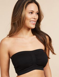 Seamless Strapless Maternity Bra, Black