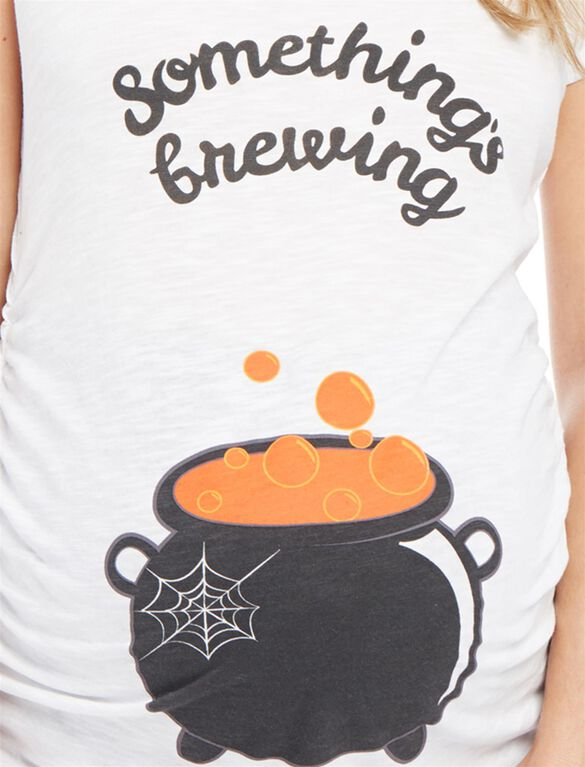 Something's Brewing Graphic Maternity Tee, Caldron Belly