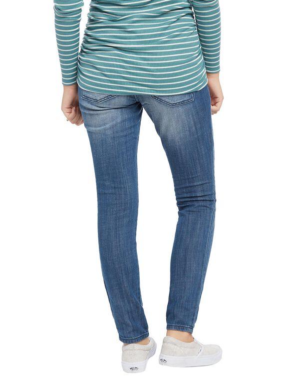 Indigo Blue Premium Secret Fit Belly Skinny Leg Maternity Jeans, Indigo Denim