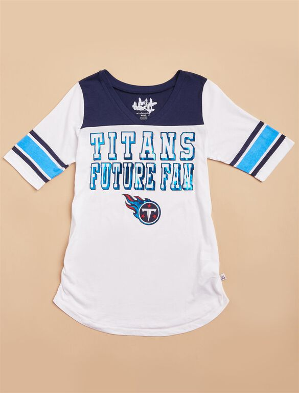 Tennessee Titans NFL Elbow Sleeve Maternity Tee, Titans