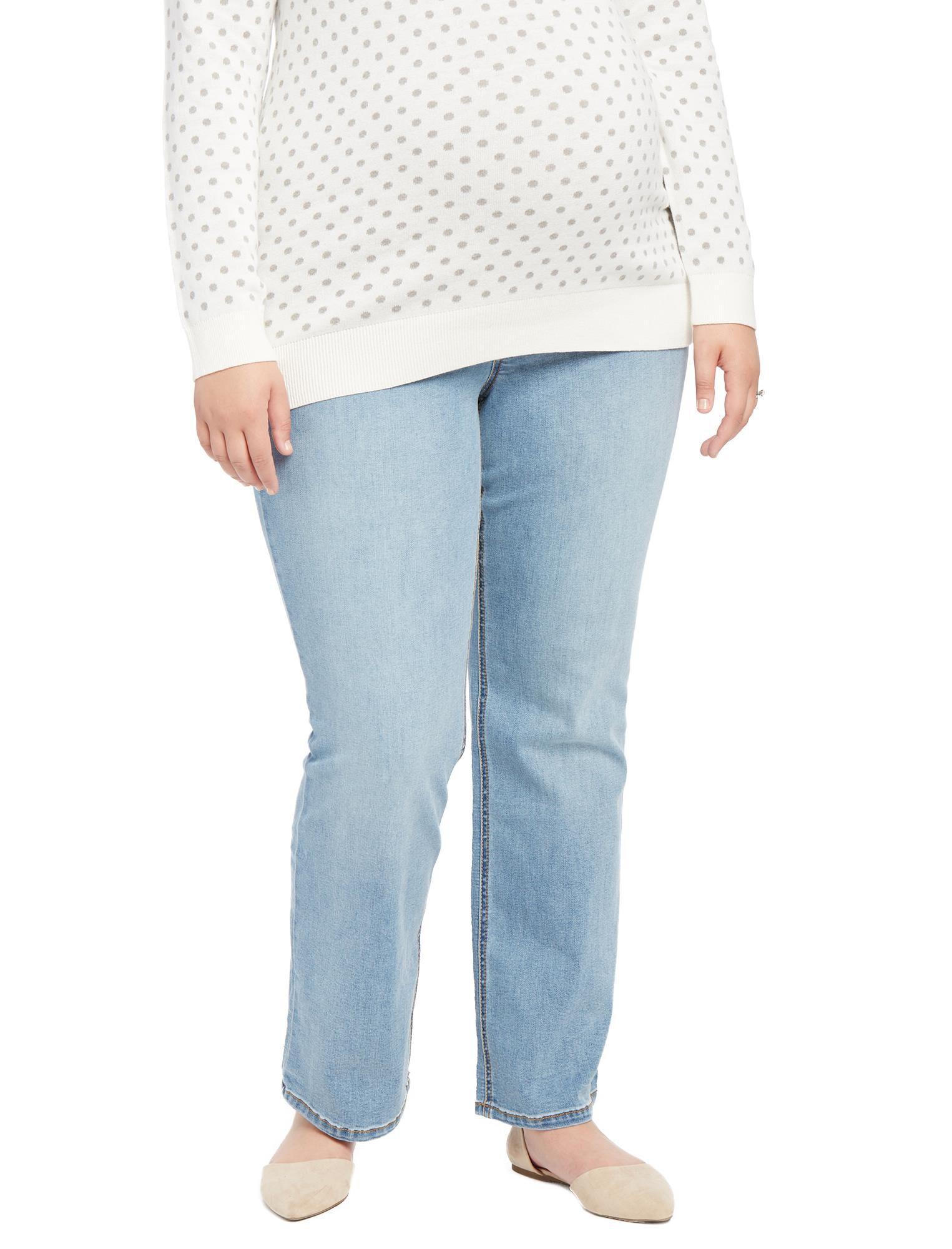 Jessica Simpson Plus Size Secret Fit Belly Boot Maternity Jeans- Light Wash