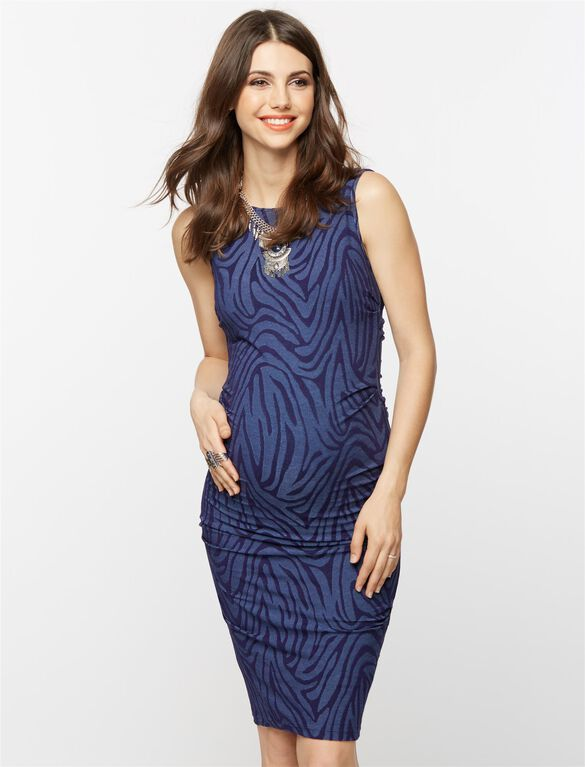 Jacquard Animal Print Maternity Dress, Multi Print