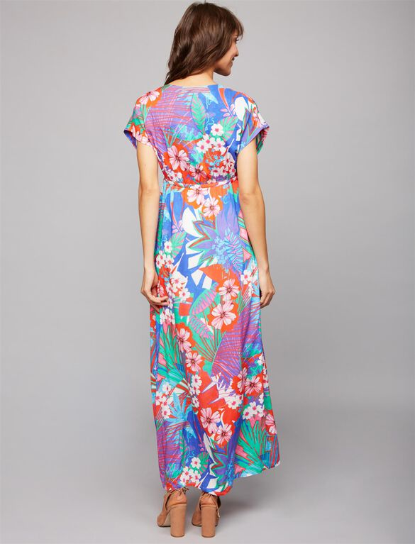 Pietro Brunelli Portovenere Caftan Maternity Dress, Tropical Print