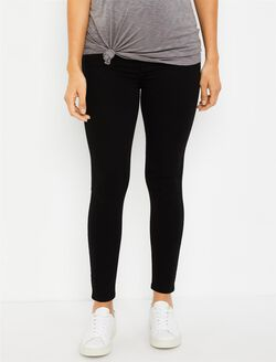 7 For All Mankind Secret Fit Belly B(air) Ankle Skinny Maternity Jeans, Black