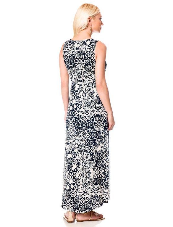 Empire Waist Maternity Maxi Dress, Print