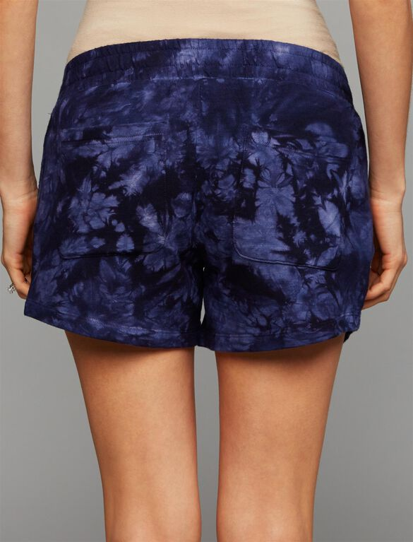Under Belly French Terry Maternity Shorts, TIE DYE