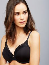 Natori Full Coverage Lightly Lined Nursing Bra, Black