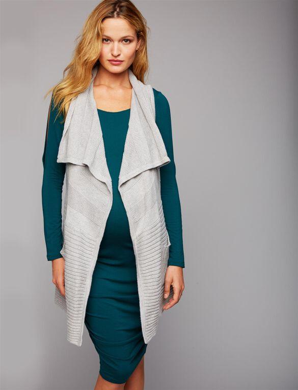 Web Only Cascade Maternity Vest, Grey