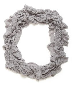 Knit Loop Scarf With Metallic Detail, Grey