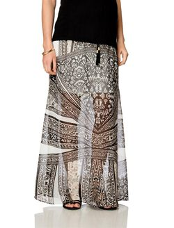 No Belly Maternity Skirt, Printed