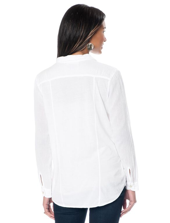 Maternity Blouse, White