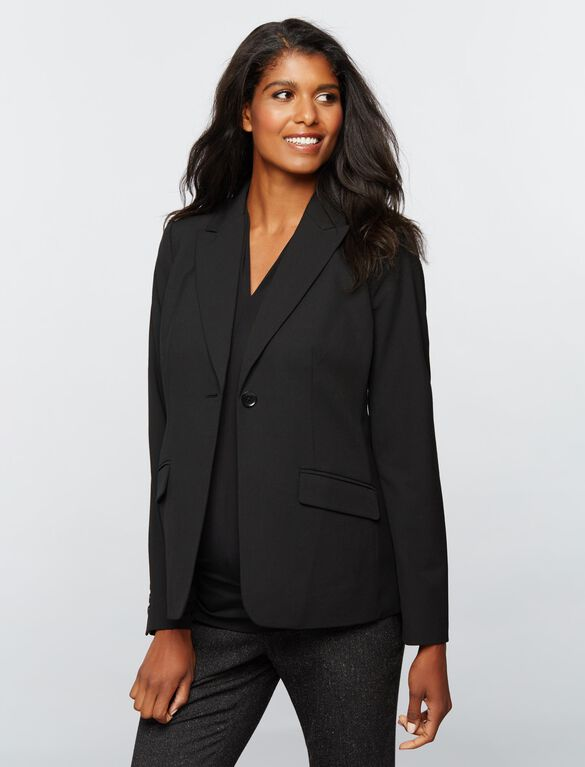 Tailored Suiting Maternity Blazer, Black