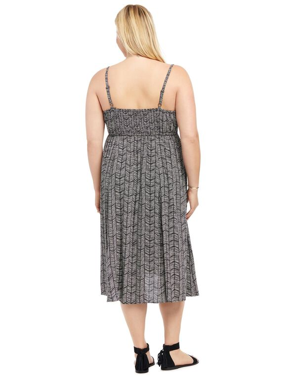 Plus Size Fit And Flare Maternity Dress, Printed