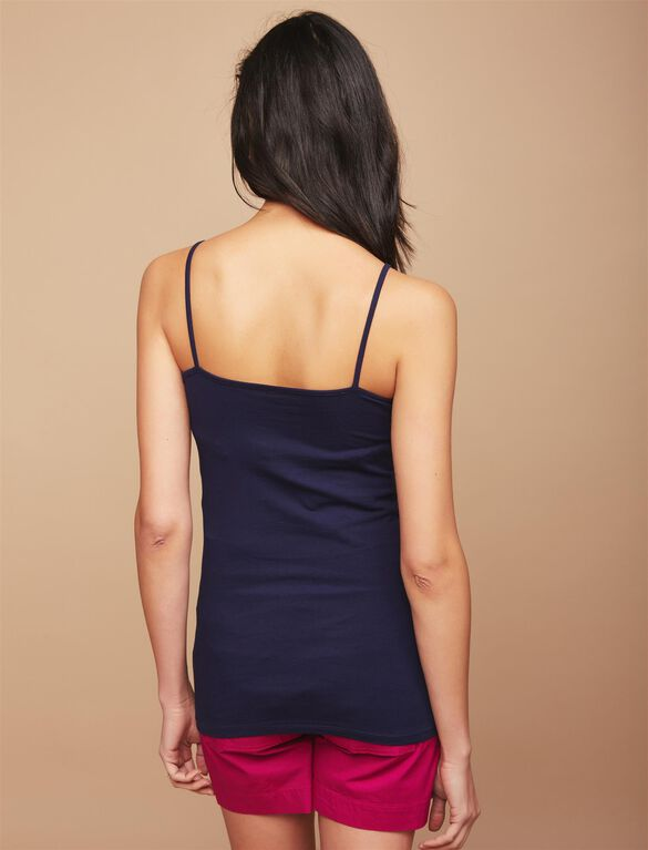 Maternity Cami Tank Top, Navy