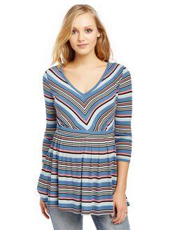 Jessica Simpson Babydoll Maternity Tunic, Blue Stripe