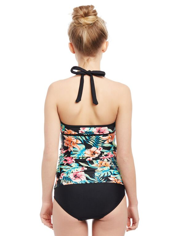 Sweetheart Detail Maternity Swim Top, Hibiscus Floral