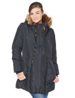 Modern Eternity 3 In 1 Maternity Puffer Coat, Black