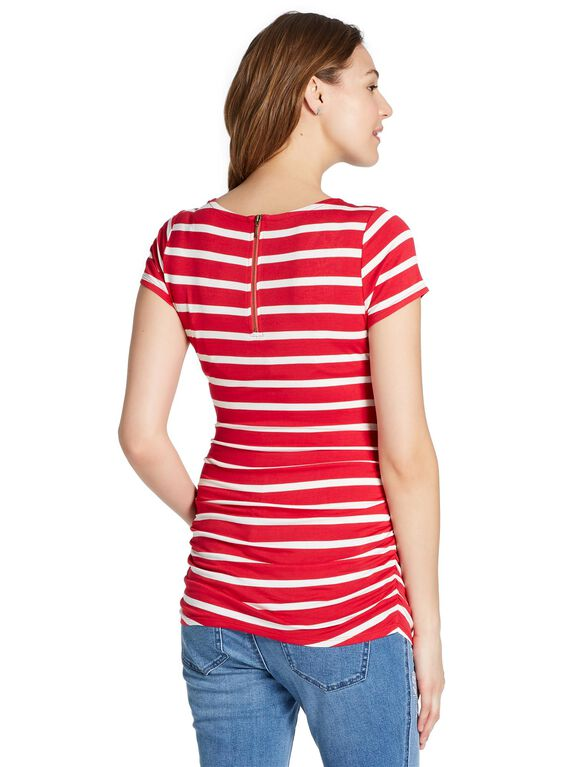 Jessica Simpson Embroidery Maternity T Shirt, Red White Blue
